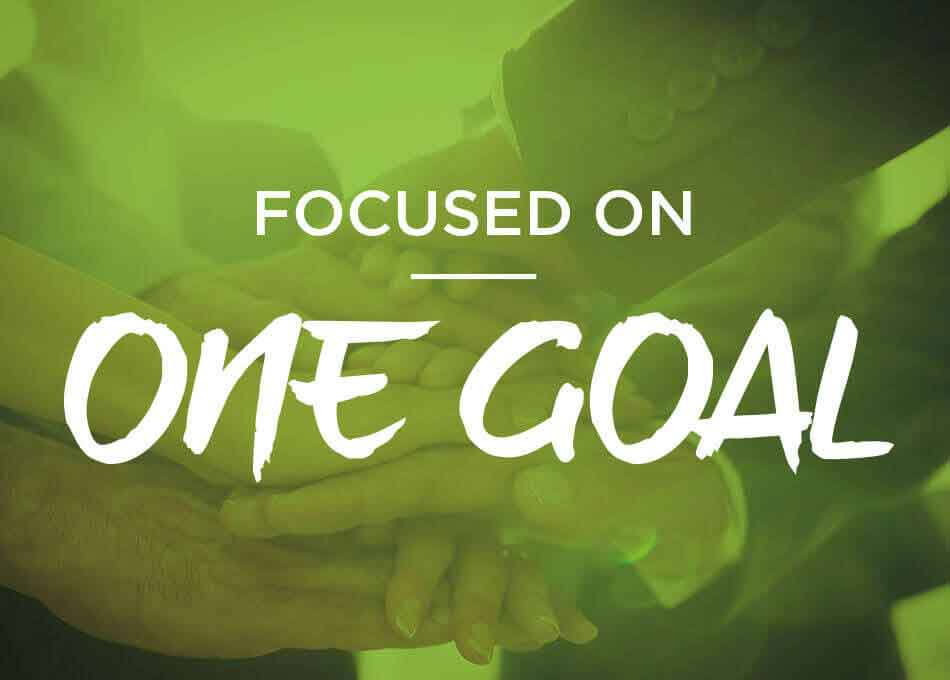 focused on one goal be challenged