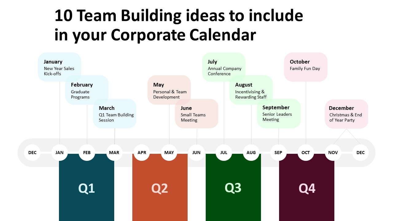 Team building calendar